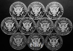 20102019 S Kennedy Half Dollar Gem DCam Proof Run 10 Coin Set CN-Clad US Mint