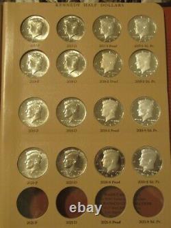 2012-2020 P, D, S-clad &s Silver Bu Cameo Kennedy Half Dollar Set In Dansco Album
