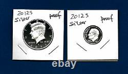 2012 S PROOF 90% Silver Kennedy Half Dollar AND 90% Silver Dime Set 2 Coins