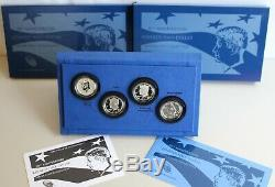 2014 50th Anniversary Kennedy Half Dollar Silver 4 Coin with US Mint Box and COA