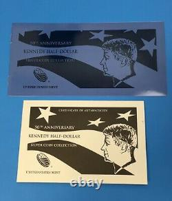 2014 50th Anniversary Kennedy Half Dollar Silver Coin Collection 4-Coin Set