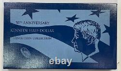 2014 50th Anniversary Kennedy Silver Half Dollar 4 Coin Set Box/coa, Reverse Pr