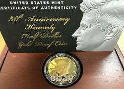 2014 John F. Kennedy 3/4 oz Gold Half Dollar Proof withOGP & COA
