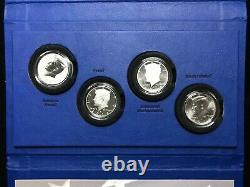 2014 Kennedy Half Dollar 50th Anniversary Silver Coin Collection 4-Coin Set OGP