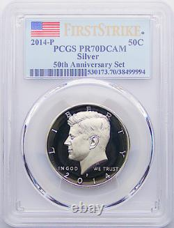 2014 P Silver Kennedy Half Dollar 50TH Anniversary Set PR70 DCAM FIRST STRIKE