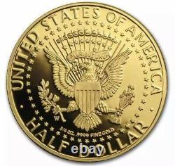 2014-W 3/4 oz Gold John F. Kennedy Half Dollar Proof (withBox & COA) KM# 587