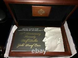 2014-W 3/4 oz pure Gold Half-Dollar Kennedy 50th Anniversary Proof withOGP -CLEAN