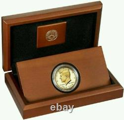 2014-W 50th ANNIVERSARY GOLD KENNEDY HALF DOLLAR 3/4 OZ. 9999 PURE GOLD