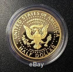 2014-W 50th Anniversary John F Kennedy Half-Dollar ¾ oz Gold Proof Coin, COA/BOX