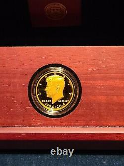 2014-W 50th Anniversary Kennedy Gold Proof Half Dollar with COA and OGP