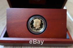 2014-W 50th Anniversary Kennedy Half Dollar Gold Proof. 9999