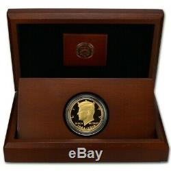 2014-W 50th Anniversary Kennedy Half Dollar Gold Proof Coin in OGP from US Mint