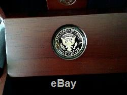 2014 W 50th Anniversary Kennedy Half Dollar Gold Proof Coin in US Mint Box & COA