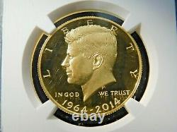 2014 W Gold Kennedy Half Dollar 50th Anniversary NGC PF70 UCAM