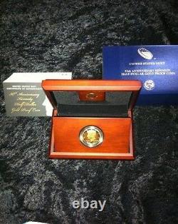 2014 W Gold Kennedy Half Dollar Anniversary Proof Coin