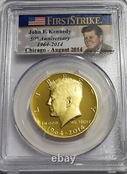 2014 W Gold Kennedy Half Dollar PCGS PR70 DCAM First Strike Chicago