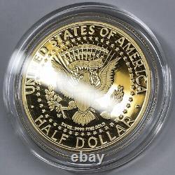 2014-W Gold Kennedy Half Dollar with box & COA 3/4 oz. 9999 fine gold