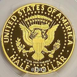 2014-W Kennedy 50th Anniversary HR Proof Gold Half Dollar PCGS PR70 FDOI