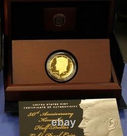 2014 W Kennedy Gold Proof Half Dollar Anniversary Chicago ANA Release K15