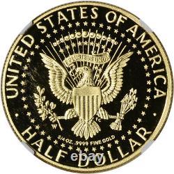 2014-W US Gold Half Dollar 50th Ann Kennedy Proof 50C NGC PF69 UCAM Ask Not