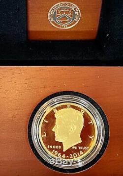 2014-W US Gold Half-Dollar Kennedy 50th Anniversary Proof 50C In OGP BOX GEM BU