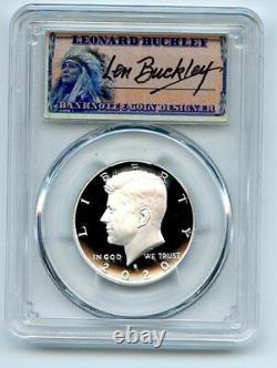 2020 S 50C Silver Kennedy Half Dollar PCGS PR70DCAM First Strike Leonard Buckley