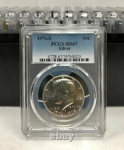 20 1976 S Kennedy Silver Half Dollar PCGS MS67 20 Coins