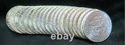 20 Coin Roll Lot Of 90% Silver BU 1964 Kennedy $10 FV USA Made Half Dollars #1