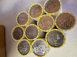 25 Bank Wrapped Rolls of Kennedy Half Dollars. Unsearched $250 Face Value