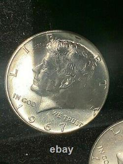 2 Rolls of 20 40% Silver Kennedy Half Dollars Choice Silver Coins, at Spot price
