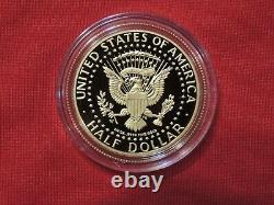 3/4 oz. 2014. 50th Anniversary Kennedy Half Dollar Proof Gold Coin in Capsule