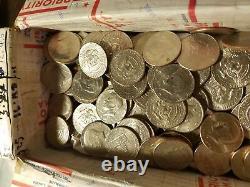 500 Circulated Kennedy Half Dollars ($250 Face) Random Dates & Mint Marks Denver