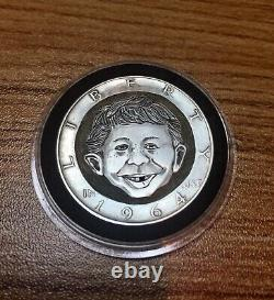 Alfred E Neuman MAD Magazine Hand Engraved Hobo Nickel Kennedy Half Dollar 1964