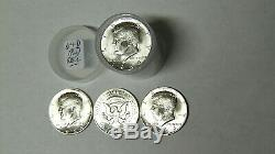 BU Roll 1964-D Kennedy Silver Half Dollars 20 Uncirculated 90% Silver Coins
