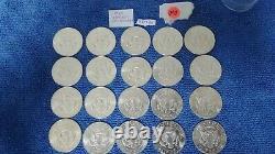 BU Roll of 1964 D Kennedy Half Dollars 20 coins. 90% silver coins (K14)