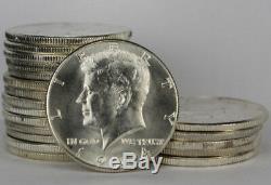 BU Roll of 20 1964 Kennedy Half Dollar 90% Silver Coins