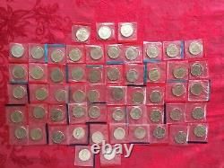 COMPLETE SET OF 1968-1981 1984-1999 P + D BU Kennedy Half Dollars IN MINT CELLO