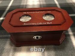 Danbury Mint Scarce 50th Anniversary Kennedy Half Dollar (50) Clad Coin Roll