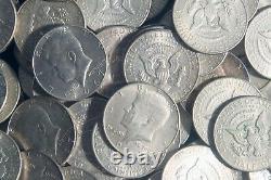 Four Rolls Of 40% Kennedy Half Dollars (80 Coins) 40% Silver (1965-69) Lot K93