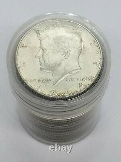 JFK Half Dollar Roll Silver 90% $10 20 Coins 1964 PDS FULL DATE Lot WITH TUBE