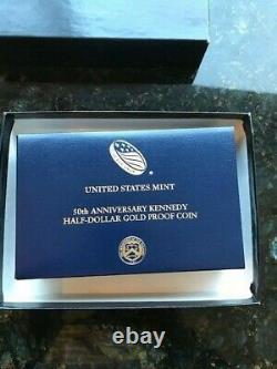 Kennedy Gold Proof Half Dollar, 50th year anniversary 2014