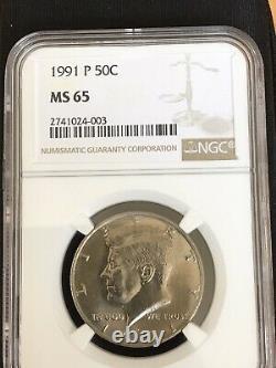 Kennedy Half Dollar 1991 Error Coin World Magazine Coin NGC CERTIFIED DDO DDR