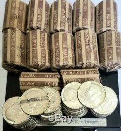 Kennedy Half Dollar Full Roll 20 Coin Lot 40% Silver $10 Face Value 1965-1969