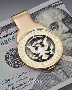 Kennedy Half Dollar Money Clip, United States Half Dollar Money Clip, (# 319M)