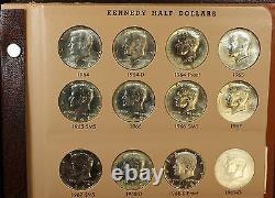 Kennedy Half Dollar Set Complete Thru 02' D- Dansco-Proof-Silver-SMS-98 S Matte