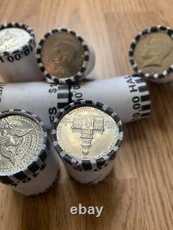 Kennedy Half Dollars Unsearched Rolls Lot Of 7 Rolls, $70 FV