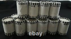 Lot Of 10 Bank Sealed Kennedy Half Dollar Coin Roll Unsearched