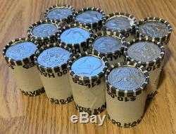 Lot Of 12 BANK SEALED KENNEDY HALF DOLLAR COIN ROLLS UNSEARCHED COIN LOT