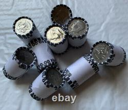 Lot Of 9 BANK SEALED KENNEDY HALF DOLLAR COIN ROLL $90 FV UNSEARCHED COIN LOT