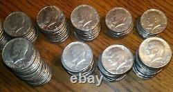 Lot of 100 1970's Vintage Kennedy Half Dollars D/P Mix